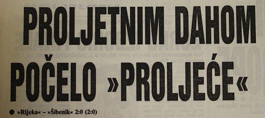 Prva prvenstvena utakmica Rijeke u HNL-u