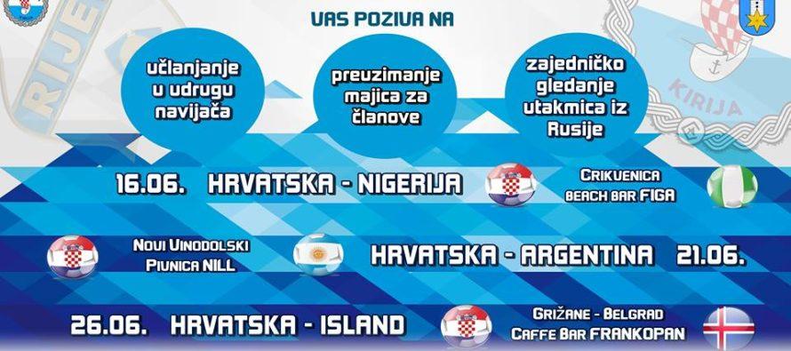 Osnivanje udruge navijača Rijeke na Kiriji